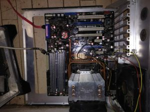 Old school gaming motherboard
